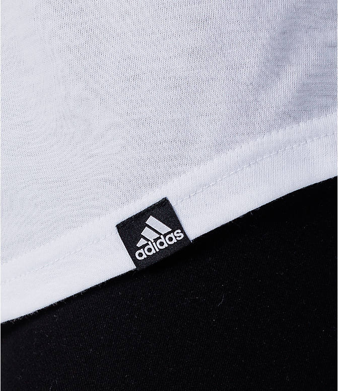 Detail 2 view of Women's adidas Girl Woman Female Boss Tank in White/Black