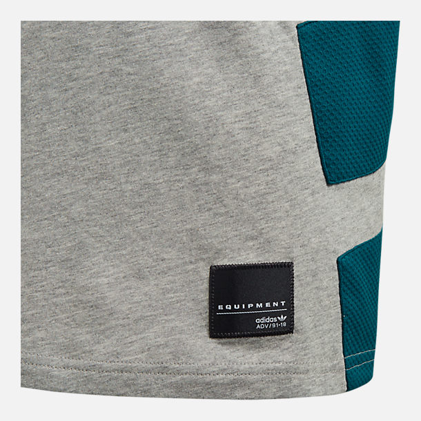 Back view of Boys' adidas Originals Equipment T-Shirt in Grey Heather