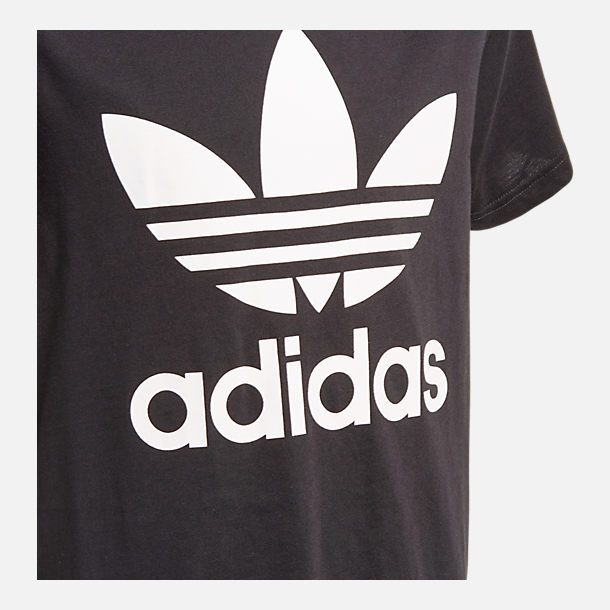 Back view of Kids' adidas Originals Trefoil T-Shirt in Black/White