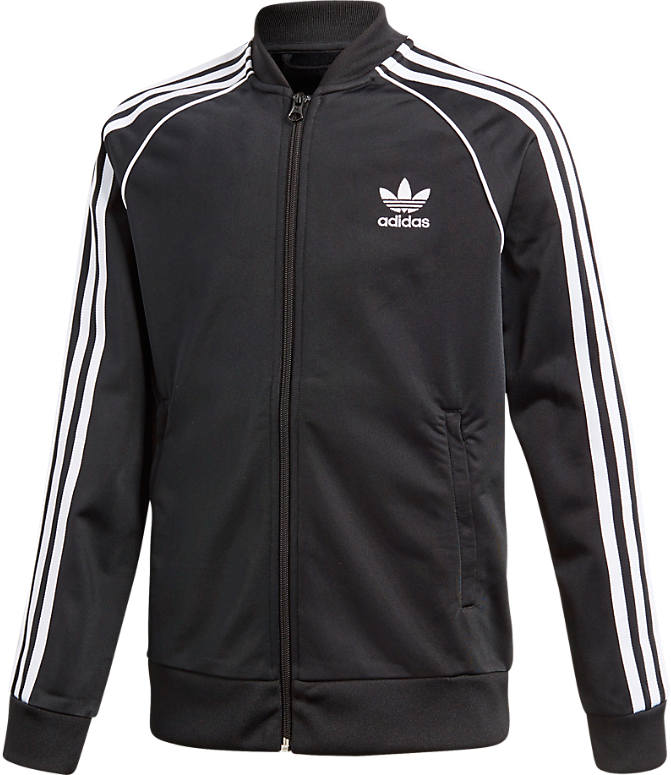 Front view of Boys' adidas Originals Superstar Track Jacket