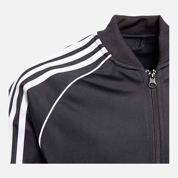 Alternate view of Boys' adidas Originals Superstar Track Jacket in Black/White