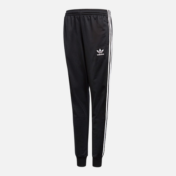 Front view of Kids' adidas Originals Track Pants in Black
