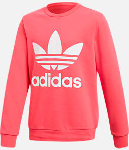 Girls' adidas Originals Trefoil Crew Sweatshirt Product Image