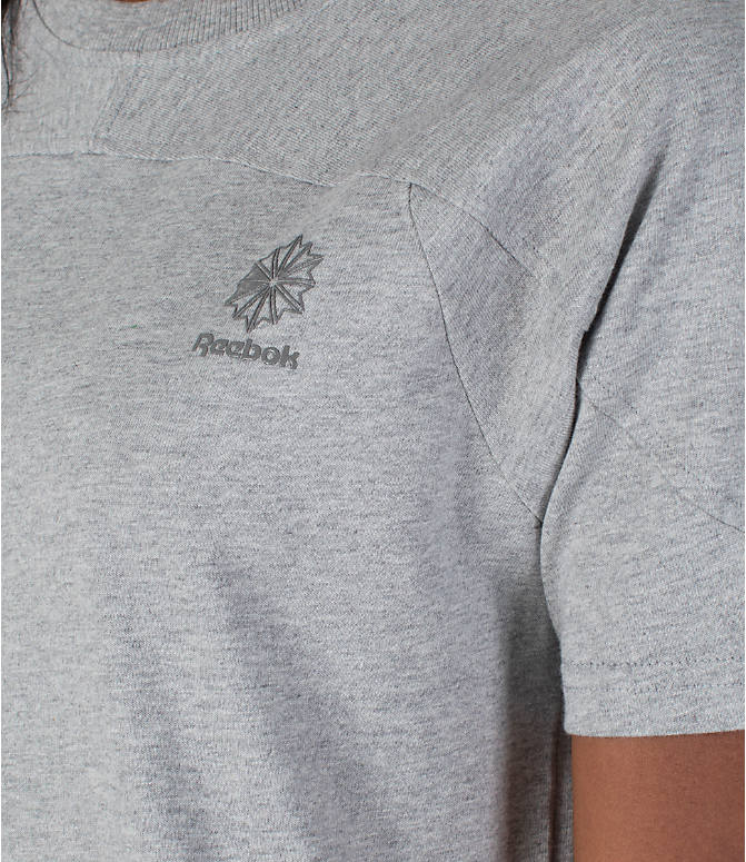 Detail 1 view of Women's Reebok Classics T-Shirt Dress in Grey