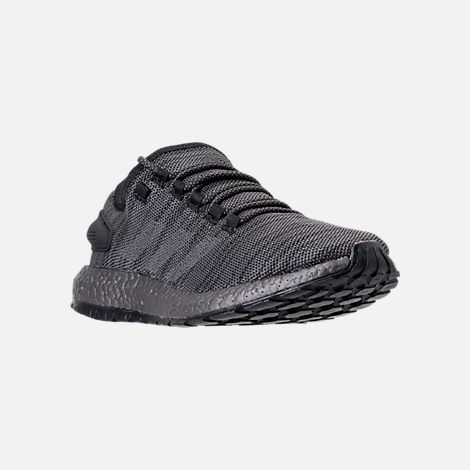 Three Quarter view of Men's adidas PureBOOST x ATR Running Shoes in Black/Silver