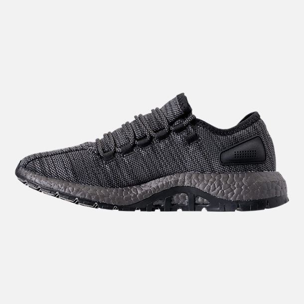 Left view of Men's adidas PureBOOST x ATR Running Shoes in Black/Silver
