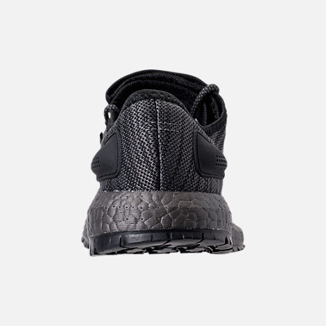 Back view of Men's adidas PureBOOST x ATR Running Shoes in Black/Silver