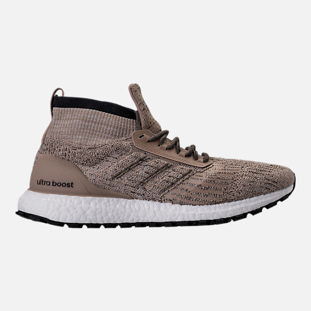 Right view of Men's adidas UltraBOOST ATR Mid LTD Running Shoes in Trace  Khaki/Clear