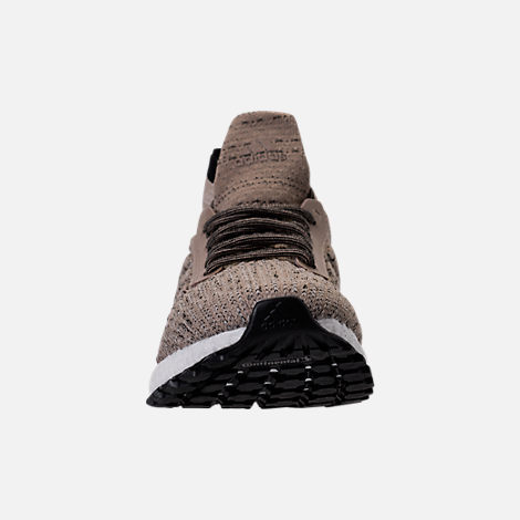 Front view of Men's adidas UltraBOOST ATR Mid LTD Running Shoes in Trace Khaki/Clear Brown/White