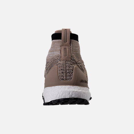 Back view of Men's adidas UltraBOOST ATR Mid LTD Running Shoes in Trace Khaki/Clear Brown/White