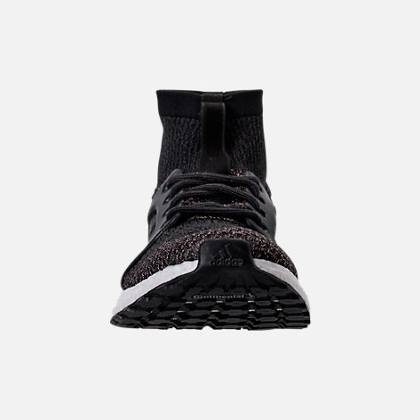 Front view of Women's adidas UltraBOOST X ATR LTD Running Shoes in Black/White