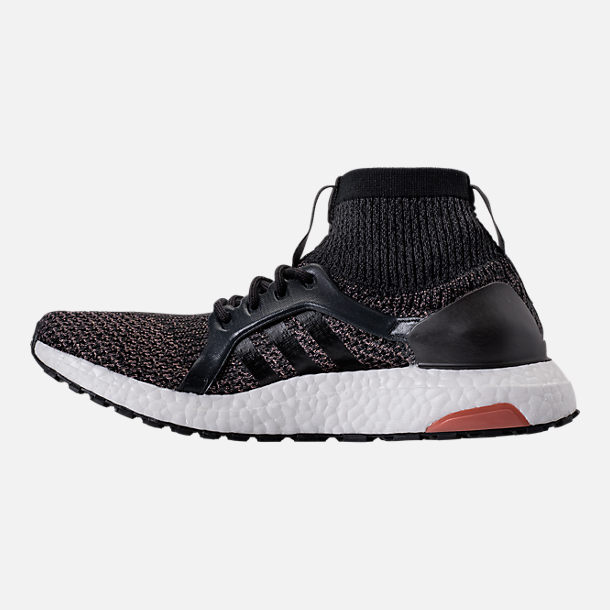 Left view of Women's adidas UltraBOOST X ATR LTD Running Shoes in Black/White