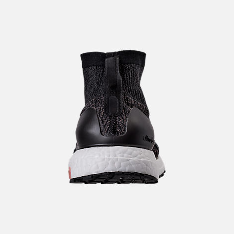 Back view of Women's adidas UltraBOOST X ATR LTD Running Shoes in Black/White