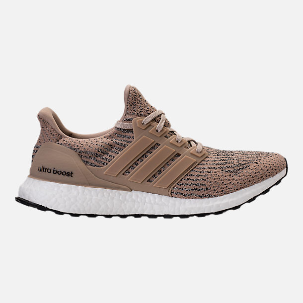Right view of Men's adidas UltraBOOST Running Shoes in Trace Khaki/Clear  Brown