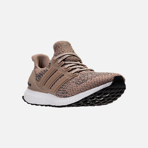 Three Quarter view of Men's adidas UltraBOOST Running Shoes in Trace Khaki/Clear Brown