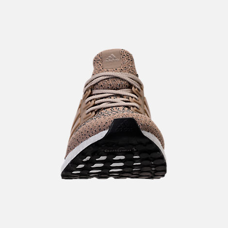 Front view of Men's adidas UltraBOOST Running Shoes in Trace Khaki/Clear Brown