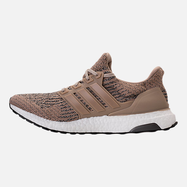 Left view of Men's adidas UltraBOOST Running Shoes in Trace Khaki/Clear Brown