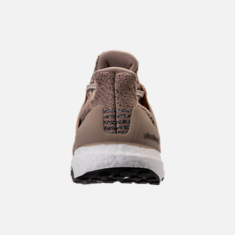 Back view of Men's adidas UltraBOOST Running Shoes in Trace Khaki/Clear Brown