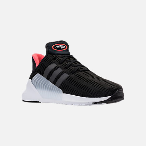 Three Quarter view of Men's adidas ClimaCool 02/17 Running Shoes in Core Black/Utility Black