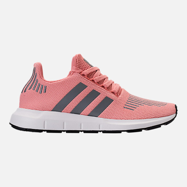 Right view of Women's adidas Swift Run Casual Shoes in Trace Pink/White