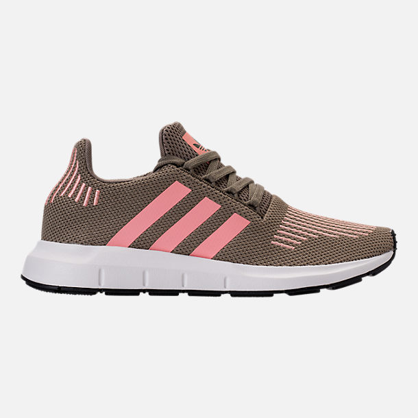 Right view of Women's adidas Swift Run Primeknit Casual Shoes in Trace Cargo/Trace Pink/White