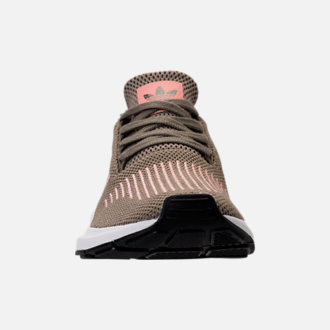 Front view of Women's adidas Swift Run Primeknit Casual Shoes in Trace Cargo/Trace Pink/White