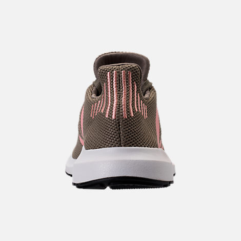 Back view of Women's adidas Swift Run Primeknit Casual Shoes in Trace Cargo/Trace Pink/White