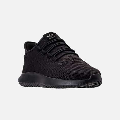 Three Quarter view of Men's adidas Tubular Shadow Casual Shoes in Core  Black/Footwear White