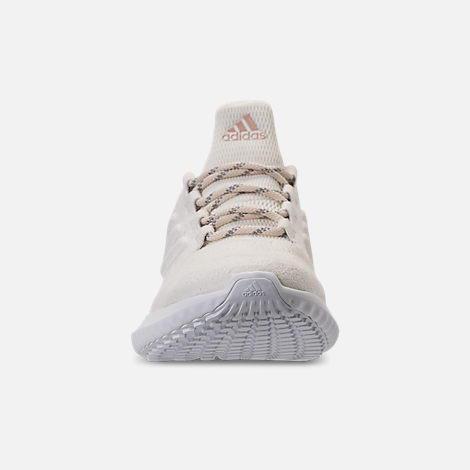 Front view of Women's adidas AlphaBounce City Running Shoes in Off White/Ash Pearl