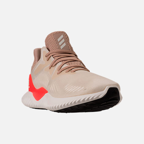 Three Quarter view of Men's adidas AlphaBounce Beyond Running Shoes in Linen/Crystal White/Ashpea