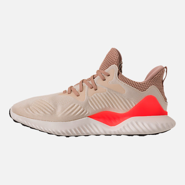 Left view of Men's adidas AlphaBounce Beyond Running Shoes in Linen/Crystal White/Ashpea