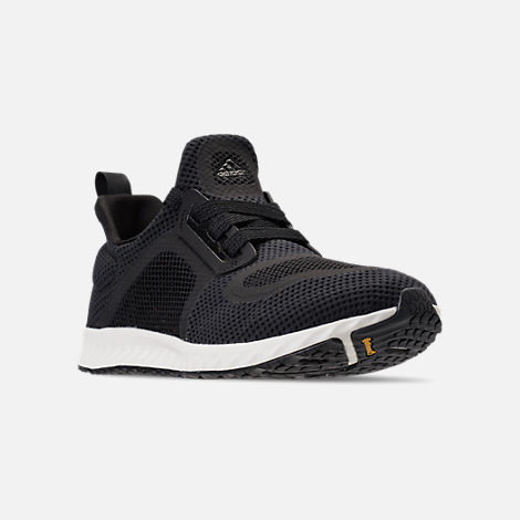 Three Quarter view of Women's adidas Edge Lux Clima Running Shoes in Black/White