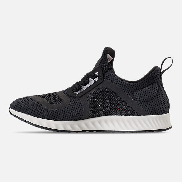 Left view of Women's adidas Edge Lux Clima Running Shoes in Black/White