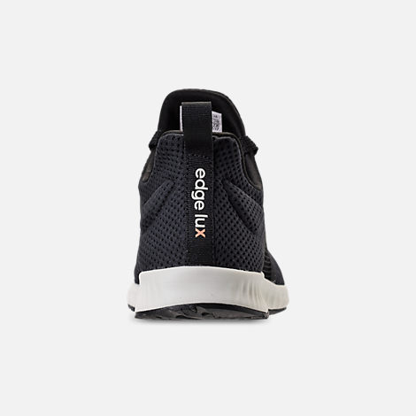Back view of Women's adidas Edge Lux Clima Running Shoes in Black/White