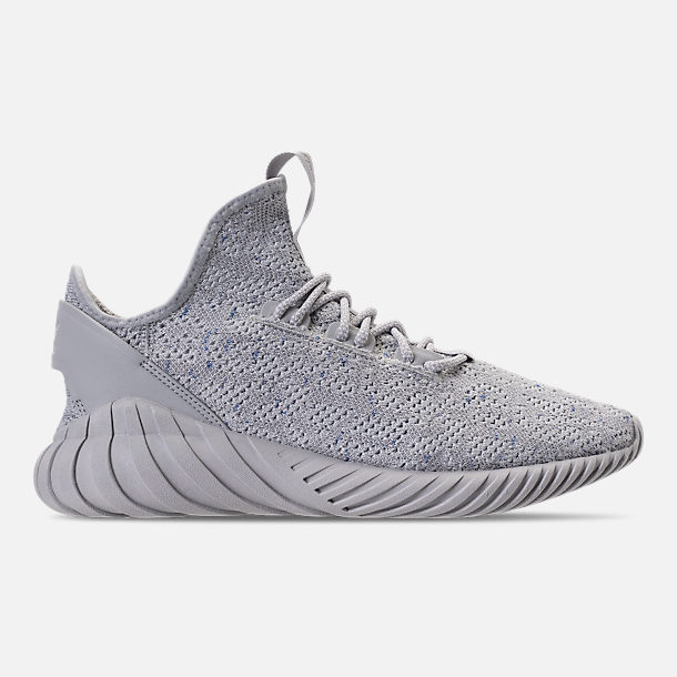 54a8d636a41 ... shop right view of mens adidas tubular doom sock primeknit casual shoes  in grey footwear white