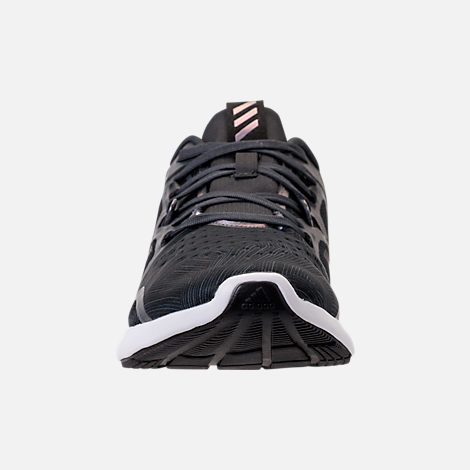 Front view of Women's adidas Edge Bounce Running Shoes in Carbon/Core Black/Night Metallic