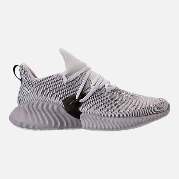 Right view of Women's adidas AlphaBounce Instinct Running Shoes in Footwear White/Grey Two/Core Black