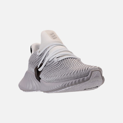Three Quarter view of Women's adidas AlphaBounce Instinct Running Shoes in Footwear White/Grey Two/Core Black