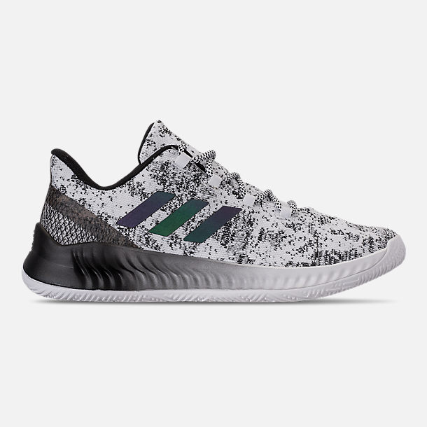 Right view of Men's adidas Harden B/E X Basketball Shoes in Cloud White/Core Black/Grey