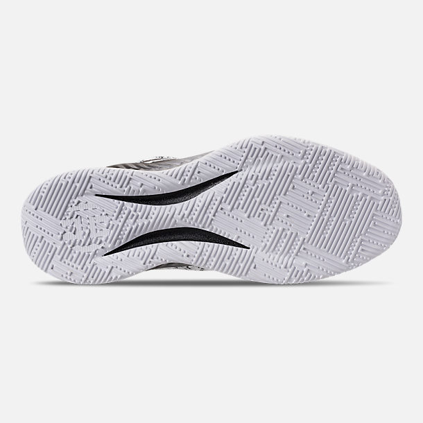 Bottom view of Men's adidas Harden B/E X Basketball Shoes in Cloud White/Core Black/Grey