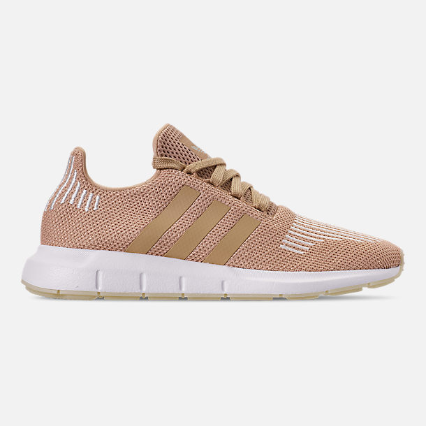 Right view of Women's adidas Swift Run Casual Shoes in Ash Pearl/Off White/Footwear White