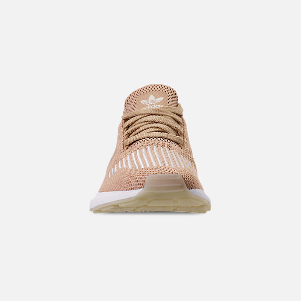 Front view of Women's adidas Swift Run Casual Shoes in Ash Pearl/Off White/Footwear White