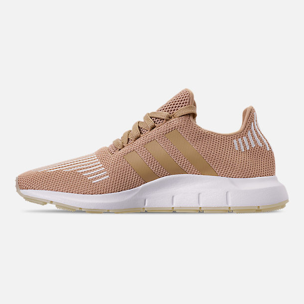 Left view of Women's adidas Swift Run Casual Shoes in Ash Pearl/Off White/Footwear White