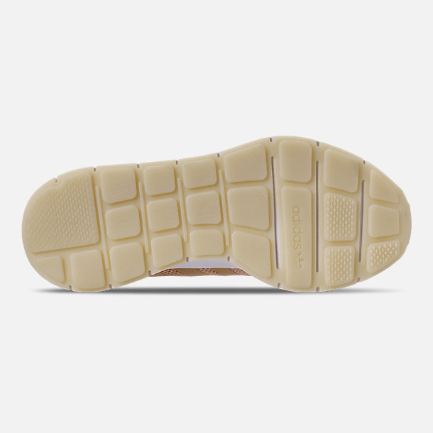 Bottom view of Women's adidas Swift Run Casual Shoes in Ash Pearl/Off White/Footwear White