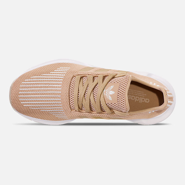 Top view of Women's adidas Swift Run Casual Shoes in Ash Pearl/Off White/Footwear White