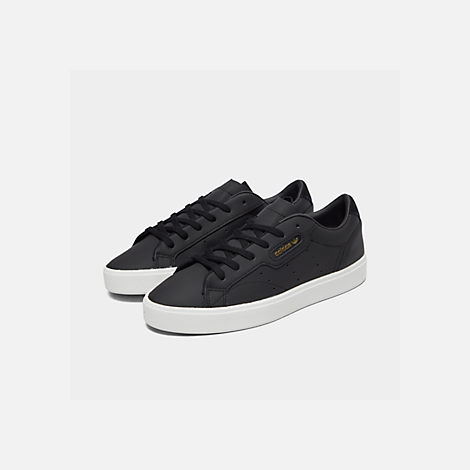 Three Quarter view of Women's adidas Originals Sleek Casual Shoes in Black