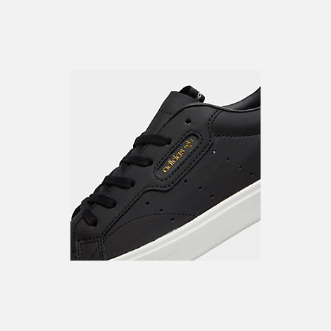Front view of Women's adidas Originals Sleek Casual Shoes in Black