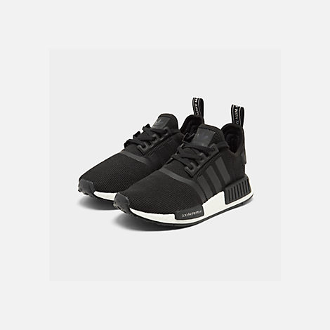 96247378b337e Three Quarter view of Boys  Big Kids  adidas NMD R1 Casual Shoes in Core
