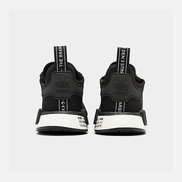 Left view of Boys  Big Kids  adidas NMD R1 Casual Shoes in Core Black ac905eca07e2