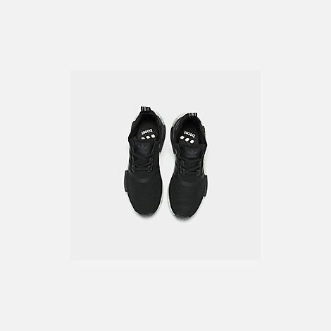 164eb1626 Back view of Boys  Big Kids  adidas NMD R1 Casual Shoes in Core Black